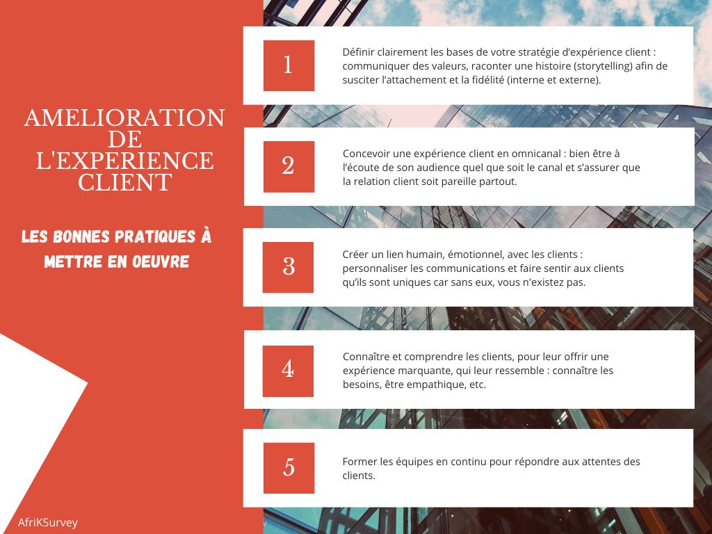 L'infographie sur les clés pour améliorer l'expérience client